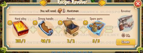 Golden Frontier Revolver Recipe (smithy)