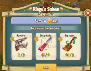 Golden Frontier Ringo's Saloon Stage 1