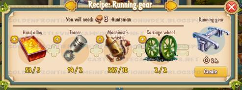 Golden Frontier Running Gear Recipe