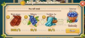 Golden Frontier Selected Bilberries Recipe (barn)