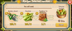 Golden Frontier Selected Zucchini Recipe (Agronomist House)