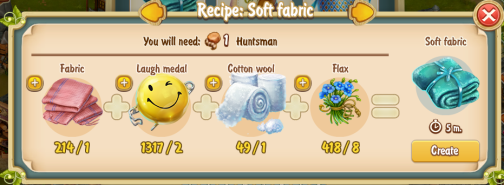 Golden Frontier Soft Fabric Recipe (workshop)