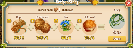 Golden Frontier String Recipe (workshop)