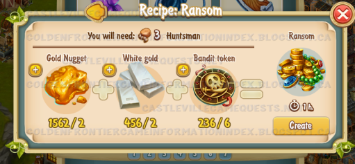 Golden Frontier Strong Ransom Recipe (workshop)