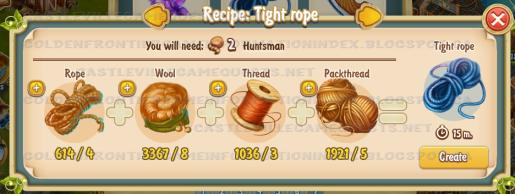 Golden Frontier Tight Rope Recipe (workshop)
