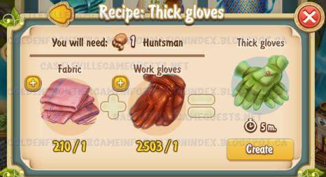 Golden Frontier Thick Gloves Recipe (workshop)