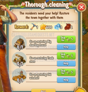 Golden Frontier Thorough Cleaning Quest
