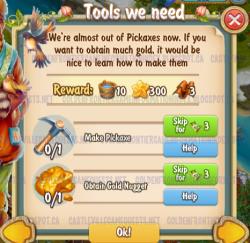 Golden Frontier Tools We Need Quest