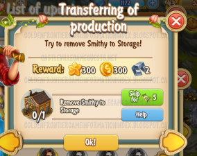 Golden Frontier Transferring of Production Quest