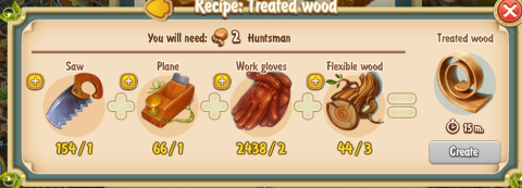 Golden Frontier Treated Wood Recipe (sawmill)