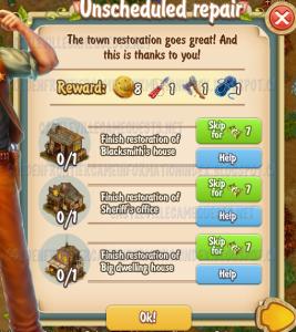 Golden Frontier Unscheduled Repair Quest