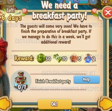 Golden Frontier We Need A Breakfast Party Quest