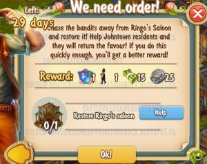 Golden Frontier We Need Order Quest