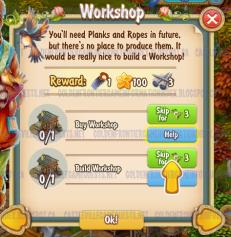 Golden Frontier Workshop Quest