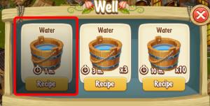1 minute water recipe