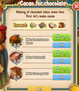 Golden Frontier Cacao for Chocolate Quest