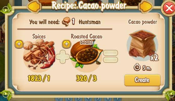 Golden Frontier Cacao Powder Recipe (kitchen)