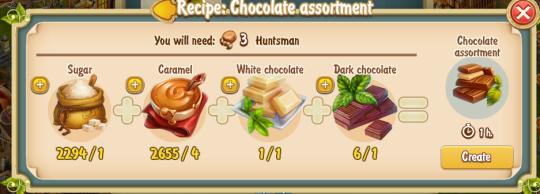 Golden Frontier Chocolate Assortment Recipe (confectioner's shop)
