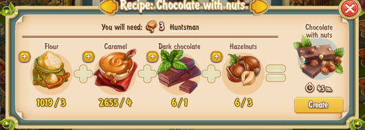Golden Frontier Chocolate with Nuts Recipe (confectioner's shop)