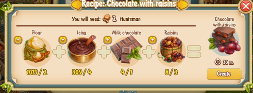 Golden Frontier Chocolate with Raisins Recipe (confectioner's shop)