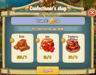 Golden Frontier Confectioner's Shop Stage 2