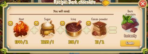 Golden Frontier Dark Chocolate Recipe (confectioner's shop)