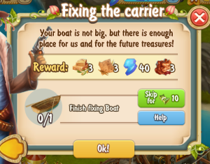 Golden Frontier Fixing the Carrier Quest