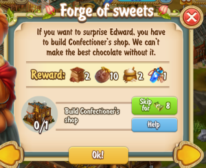 Golden Frontier Forge of Sweets Quest