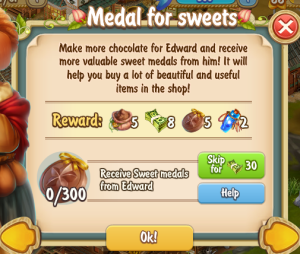 Golden Frontier Medals for Sweets Quest