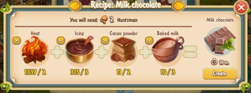 Golden Frontier Milk Chocolate Recipe (confectioner's shop)