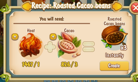 Golden Frontier Roasted Cacao  Beans Recipe (kitchen)
