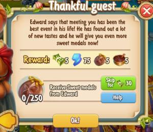 Golden Frontier Thankful Guest Quest