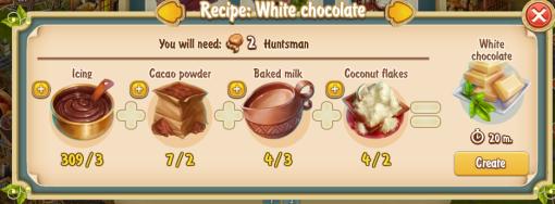 Golden Frontier White Chocolate Recipe (confectioner's shop)