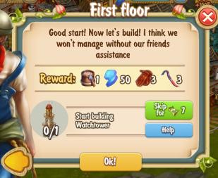 Golden Frontier First Floor Quest
