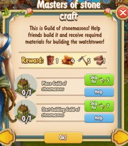Golden Frontier Masters of Stonecraft Quest