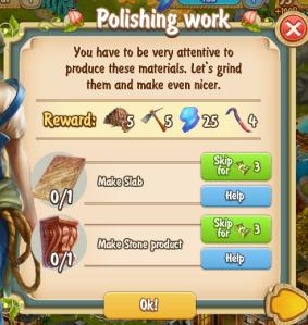 Golden Frontier Polishing Work Quest
