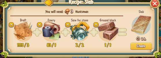 Golden Frontier Slab Recipe (pottery)