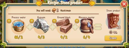 Golden Frontier Stone Product Recipe (workshop)