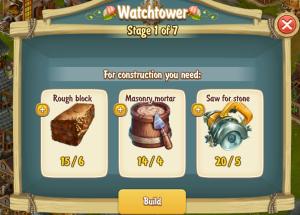 Golden Frontier Watch Tower Stage 1