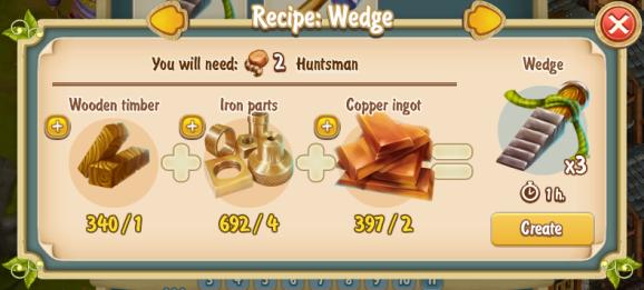 Golden Frontier Wedge Recipe (smithy)