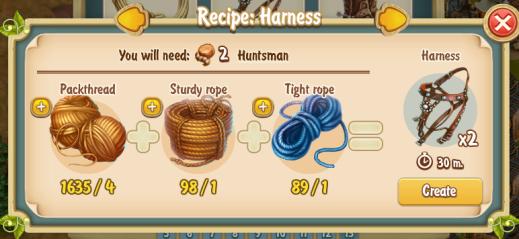 Golden Frontie Harness Recipe (workshop)