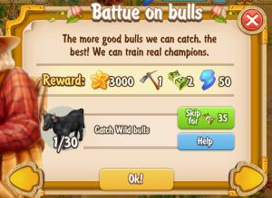 Golden Frontier Battue On Bulls Quest