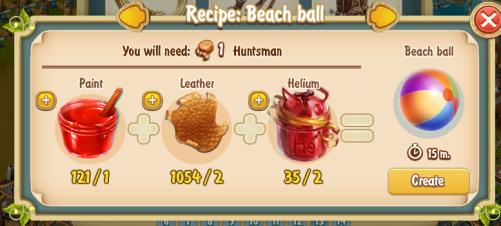 Golden Frontier Beach Ball Recipe (workshop)