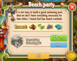 Golden Frontier Beach Party Quest