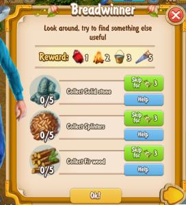 Golden Frontier Breadwinner Quest