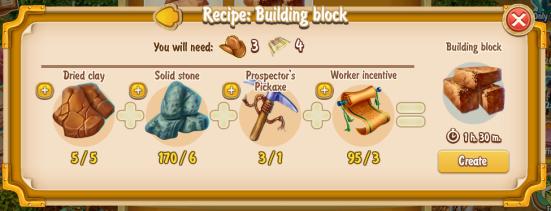 Golden Frontier Building Block Recipe (craftsman's house)