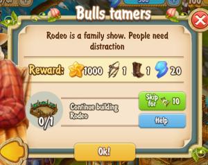 Golden Frontier Bulls Tamers Quest