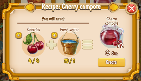Golden Frontier Cherry Compote Recipe (eatery)