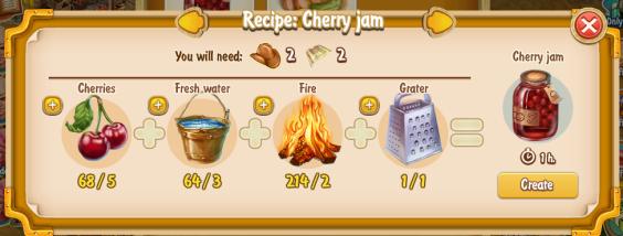 Golden Frontier Cherry Jam Recipe (eatery)