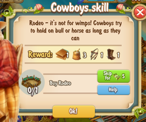 Golden Frontier Cowboys Skill Quest